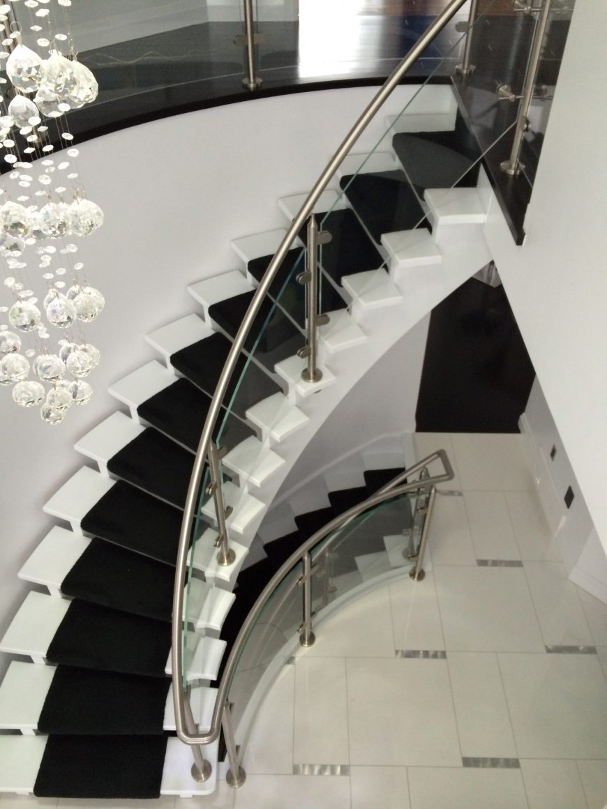 Castle Glass Curved Glass Staircase
