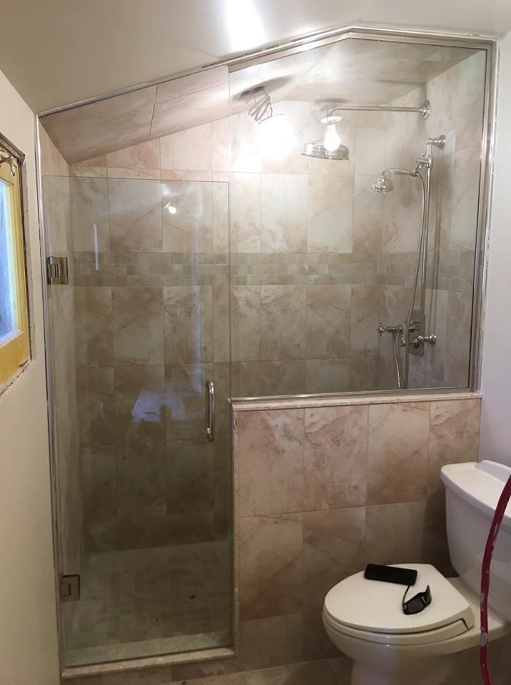 Custom Walk In Shower - Castle Glass